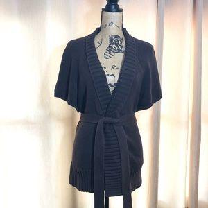 Michael Kors | Thick Knit Short Sleeve Wrap
